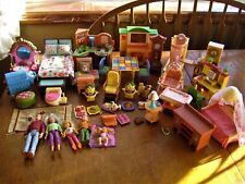 Large Lot of Fisher-Price Loving Family Dollhouse Furniture and Dolls