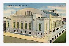 Convention Hall, Philadelphia Color Linen POSTCARD