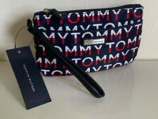 NEW! TOMMY HILFIGER NAVY BLUE RED WALLET CLUTCH POUCH WRISTLET BAG PURSE $24
