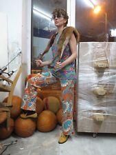 70s Flower Power Hippie Hose Schlaghose Blumen paisley 70er TRUE VINTAGE pants