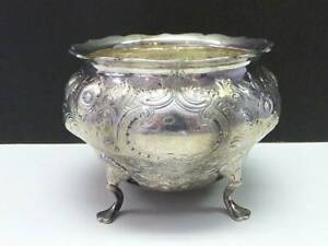 1839 Ball Tompkins & Black NEW YORK Coin Silver Footed Bowl Repousse Flower 7oz