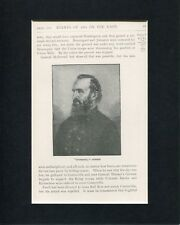 Confederate General Stonewall Jackson US Civil War Original Book Photo Display