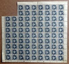 India 1963 short lived 6np Map block of 86 used first day £279.50