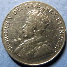 *1933  Vintage CANADA  5 CENTS COIN, VeryFine Circulated KING GEORGE V COIN