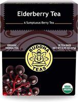 ELDERBERRY TEA, BUDDHA TEAS, Sumptuous Berry, IMMUNE SYSTEM(18 tea bags x 1 box)
