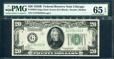 USA 1928 B  20 Dollars PMG 65 EPQ GEM UNC