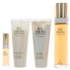 White Diamonds Perfume 4 Piece Gift Set women with 3.4oz NEW