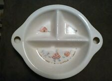 Childs Childrens Baby Divided Dish Bowl Mary Had a Little Lamb Warming Base 40s