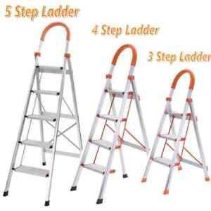 Color : Brown Folding Ladder Solid Wood 5 Step Ladder Home Interior Loft Decoration Ladder Stool 60x34x88cm Stability and safe