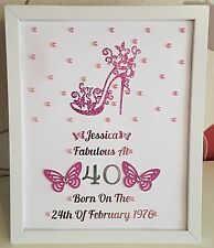 Personalised Framed Heel Birthday 18th 21st 30th 40th 50th 60th Gift Any Age