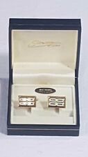 Stratton of London Cufflinks Boxed Enamelled Design White & Green on Gold No17