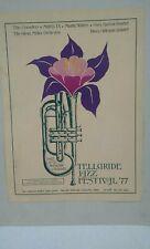 1st TELLURIDE JAZZ FESTIVAL 1977 CONCERT POSTER Dizzy Gillespie, Muddy Waters