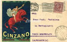 PUBBLICITA'-ADVERTISING-CINZANO-VERMOUTH TORINO-VIAGGIATA 12 SETTEMBRE 1925 ORIG
