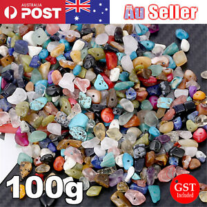 Gemstone Chips 100g Mix Spacers Jewellery DIY Necklace Jewelry Bead FREE POSTAGE