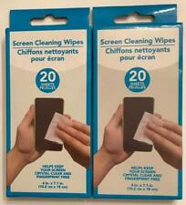 2 - 20 Count Screen Cleaning Wipes keeps Screens Crystal Clear+Fingerprint Free