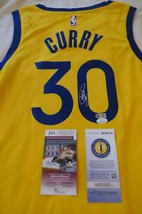 STEPHEN STEPH CURRY Signed GOLDEN STATE WARRIORS NIKE Jersey JSA & SC USA COA