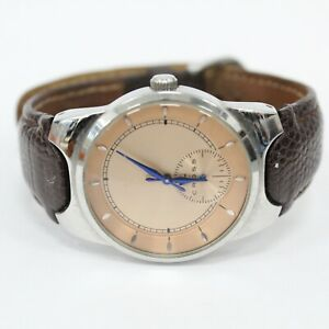 Cross WMC03 Japan Movt. Stainless Back Rose Gold Watch with Brown Leather Band