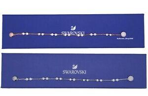 NEW SWAROVSKI Rhodium Rose Gold Remix Carrier Strand Bracelet 5435651 5432774