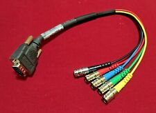 VGA Male to RGBHV BNC F Adapter Extron SYM BNCF 1' (30cm) Part. 26-531-11 RevG