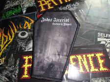 Judas Iscariot Coffin Shape Patch Black Metal Jacke Kutte