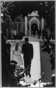 Photo:Richard Nixon,Tricia,Rose Garden,White House,Wedding,71 7237