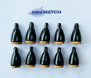 MDI Match Fishing Depth Cork Plummets Size 25g Pack of 10