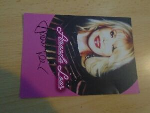 original Amanda Lear -Autogrammkarte, International, Musik