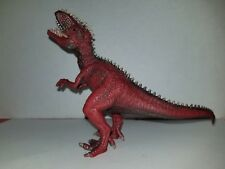 "Schleich High Quality Red Dinosaur Giganotosaurus 4.5"" Tall Figure in good shape"