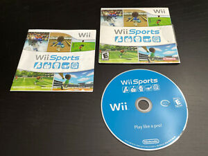 Wii Sports Nintendo AUCTION Complete Game Disc Case Manual Working Disk