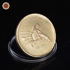WR Elvis Presley 1935-1977 vergoldet Münze Gedenkmedaille Musik Fan Geschenk