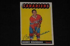 BOBBY ROUSSEAU 1965-66 TOPPS SIGNED AUTOGRAPHED CARD #70 MONTREAL CANADIENS
