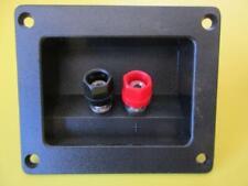 2 Lot Recessed Speaker Plate Terminal Connector Dual Banana Jack Binding Post