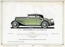 Print.  1930-2.  Green Citroen C 6 G Conduite Interieure Sport Auto