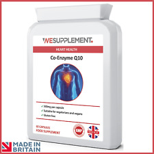 Co-Enzyme Q10 CoQ10 300mg & Vitamin B1 Vegan Capsules Heart Antioxidant Energy