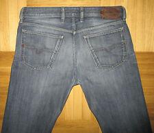 Diesel WAYKEE 0806U Regular Straight Leg Torn Hem Jeans size W33 L32
