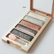 Glitter Smoky Eyeshadow Palette Eyes Makeup Set Shimmer Metallic Color #5 UK