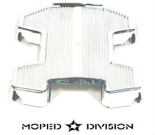 PUCH MOPED CHROME PLASTIC FOOT REST PANEL / FAIRING / FRAME COVER maxi newport