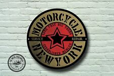 Motorcycle New York Metal Sign, Biker, Vintage, Motorbike, Advertising, 940
