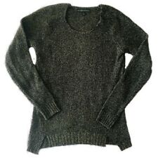 Rock & Republic Black And Gold Knit Sweater Size XS E5