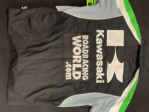 Team Kawasaki RoadRacing World Official Race Gear Motorcycle Team Shirt mens med