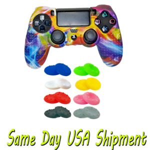 PS4 Controller Anti-slip Skins Silicone Case Covers Protector + 12pc grip