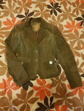 Suede jacket blazer New Look khaki green Size 8