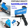 90PSI Portable Gravity Sandblasting Gun Tool Pneumatic Small Sand Blasting Tool
