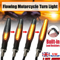 4PCS 12 LED Motorcycle Rear Front Sequential Flowing Turn Signal Light Indicator