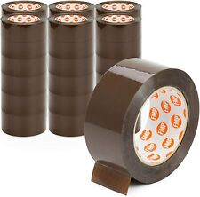 36 Rolls Heavy Duty Carton Packing Tape Tan Brown 60 Yards 27 Mil 2 Wide
