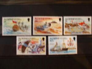 ALDERNEY  1991 Lighthouses Issue Full Set of 5vs MNH Cat 11.20 (1B11)