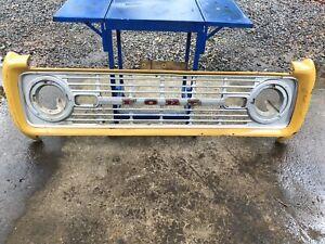 1969-1977 Ford Bronco OEM Original Steel Header Panel Nose Grille Assembly