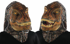 Animated Animal T Rex Face Mask With Moveable Jaw Dinosaur Halloween