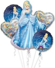 5 Piece Cinderella Foil Mylar Balloon Bouquet Party Decorating Supplies