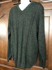 Men's Vintage Leo Peressi 100% Alpaca Sweater, Green, Sz Xxl